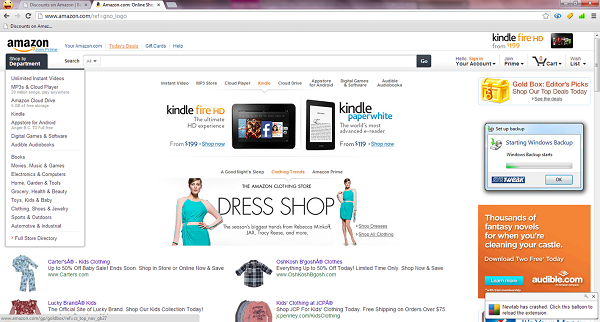 "Amazon Homepage - Notice the highlighted tab ""Todays Deals"" Click to get to that page!"